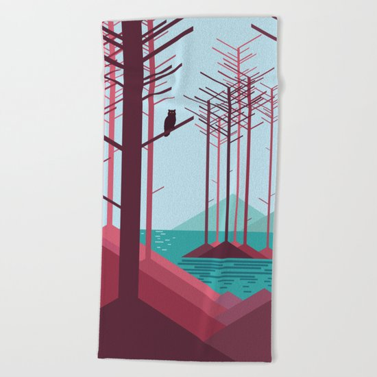 The guardian of the forest Beach Towel