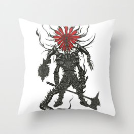 Against Man Throw Pillow