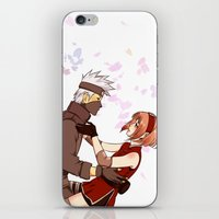 kakashi iPhone & iPod Skins featuring Fleeting Beauty by Pamianime