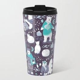 Arctic bear pajamas party Travel Mug