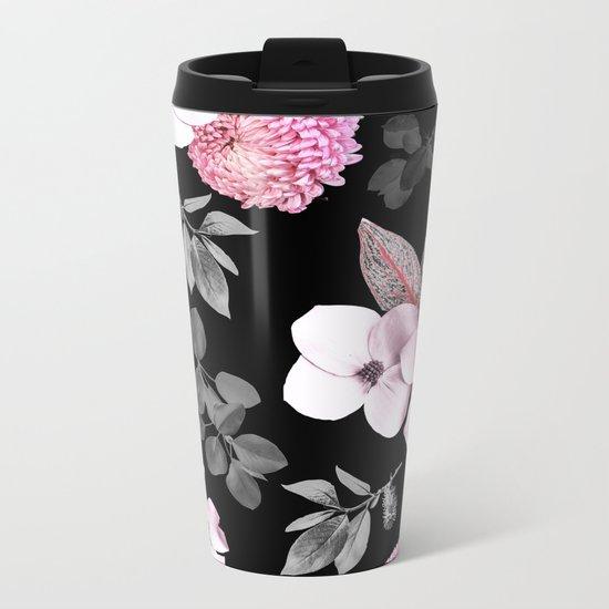 Night bloom - pink blush Metal Travel Mug