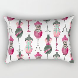 Vintage Dress Forms – Pink & Black Palette Rectangular Pillow