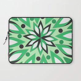 Abstract vegetation in green Laptop Sleeve