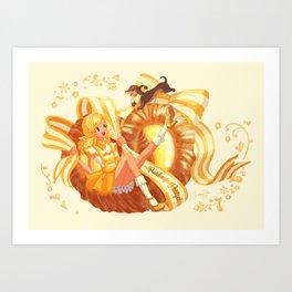 Scandi Sweets - Pudding Pretzel Art Print