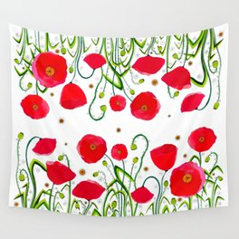 Flower#1 - Red Poppies Wall Tapestry