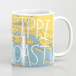 Mississippi Gulf Coast Map Coffee Mug