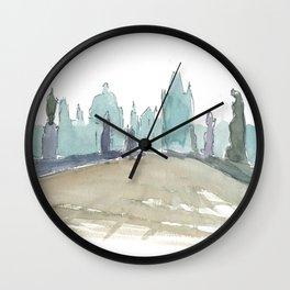 Charles Bridge Prague Lonely Silhouette Wall Clock