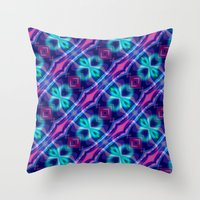 neon Throw Pillows featuring Neon by GypsYonic