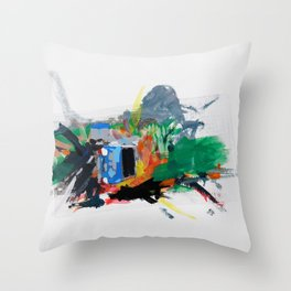 Accident three Throw Pillow