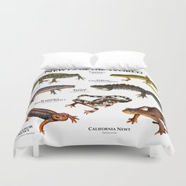Newts of the World Duvet Cover