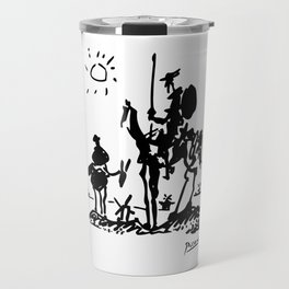 Pablo Picasso Don Quixote 1955 Artwork Shirt, Reproduction Travel Mug