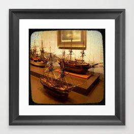 Model Frigates Framed Art Print