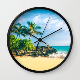 Paako Beach Makena Maui Hawaii Wall Clock