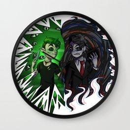 Antisepticeye VS Darkiplier Wall Clock