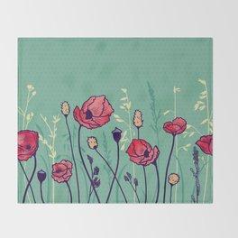 Summer Field Throw Blanket