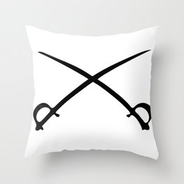 Crossed Sabres Throw Pillow