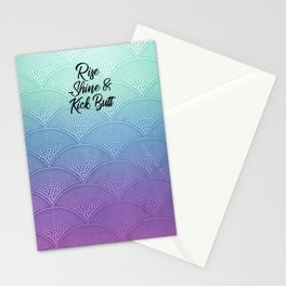 Rise Shine & Kick Butt Stationery Cards