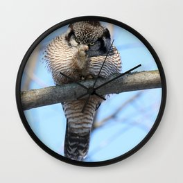 POW Right In The Kisser Wall Clock
