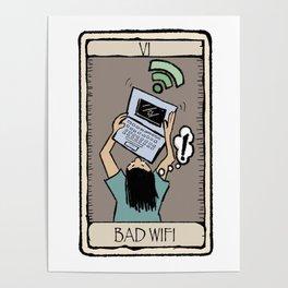 Office Tarot - Series 1 - Bad Wifi Poster