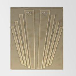 Art Deco Golden Matte Throw Blanket