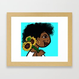 She Carries Beautiful With Her... Framed Art Print