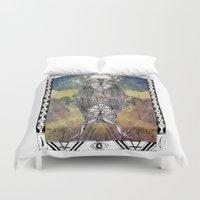 capricorn Duvet Covers featuring Capricorn by Caroline Vitelli GOODIES