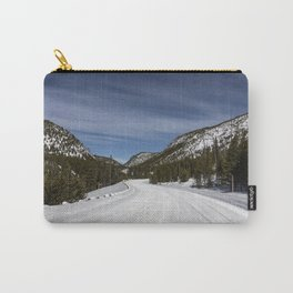 Carol Highsmith - Snow Covered Road Carry-All Pouch