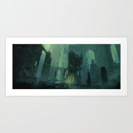 Ravnica Swamp Art Print