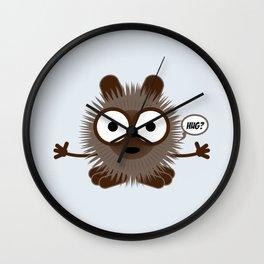 Hug? - Every creature needs love #017 Wall Clock