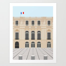 Buren's Columns, Palais Royal, Paris, France Art Print