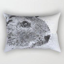 Animals and Art - Guinea Pig Rectangular Pillow
