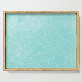 Pastel Teal Blue Grunge Ombre Pastel Texture Vintage Style Serving Tray