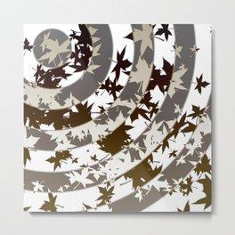 Vortex of leaves dark Metal Print