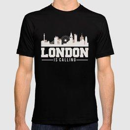 Vintage London Is Calling Skyline UK Vacation T-shirt