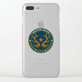 Whitetail Militia Clear iPhone Case