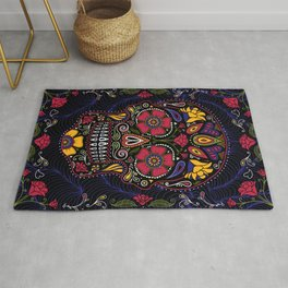 Day of the Dead Sugar Skull Rug