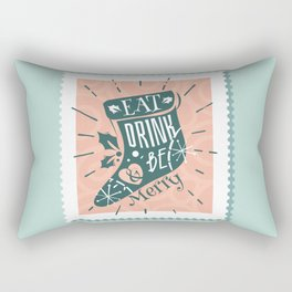 Eat Drink and Be Merry Rectangular Pillow