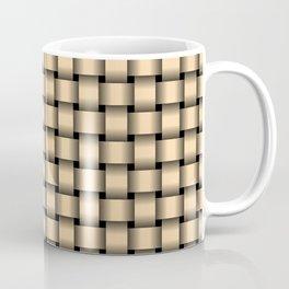 Small Navajo White Orange Weave Coffee Mug