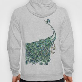 My Peacock Art in Teals and Blues Hoody