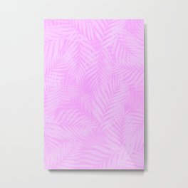 Palm Leaves - Orchid Pink Metal Print