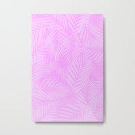 Palm Leaves - Orchid Pink Metal Print