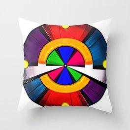 Test Pattern Clock Throw Pillow