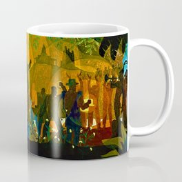 From Slavery thru Reconstruction - 135th Street Mural NY Public Library by Aaron Douglas Coffee Mug