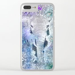 ELEPHANT IN THE STARRY LAKE Clear iPhone Case