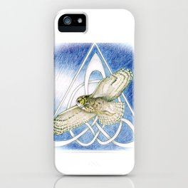 Great Horned Owl soft framed iPhone Case