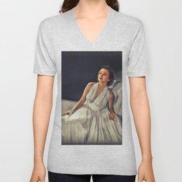 Jean Brooks, Vintage Actress Unisex V-Neck
