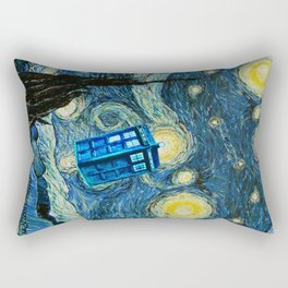 Flying Tardis doctor who starry night iPhone 4 4s 5 5c 6, pillow case, mugs and tshirt Rectangular Pillow