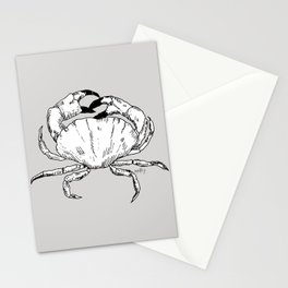 New Jersey Blue Crab Gray Background PG Stationery Cards