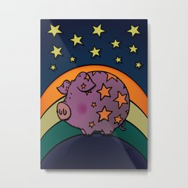 Peter The Magic Pig Metal Print