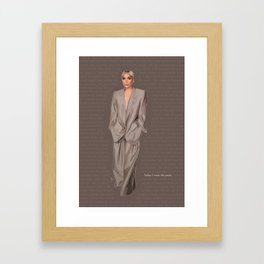 Lady G - MJ Power Suit Fashion Illustration Framed Art Print
